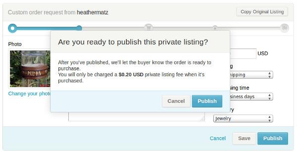 objavljivanje privatnog listinga